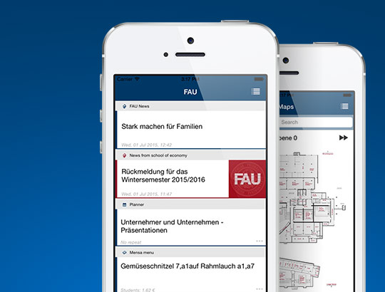 FAU - Campus-App for iOS and Android