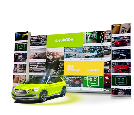 ŠKODA Social Wall at the Geneva Motor Show