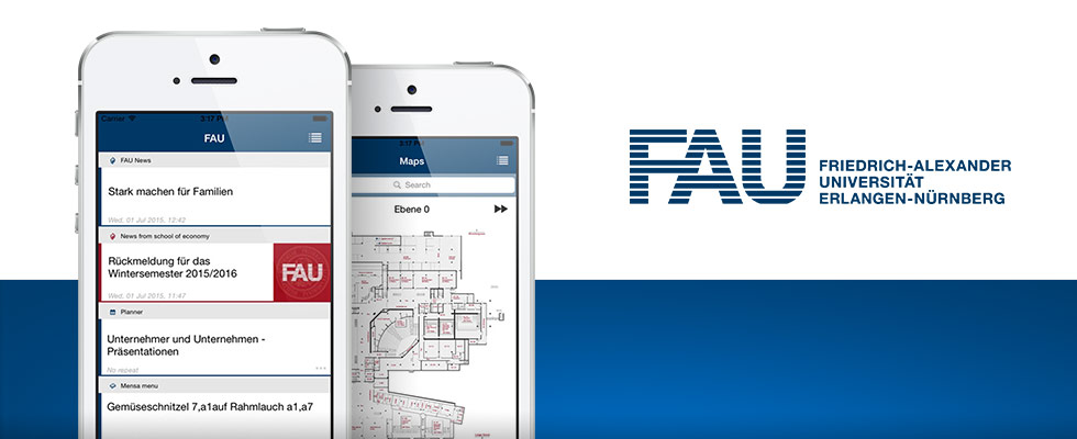 FAU campus app for iOS and Android